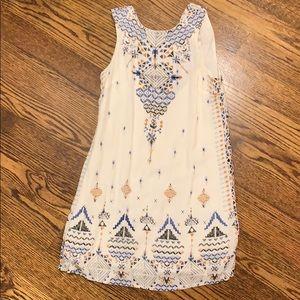 White bohemian dress!!